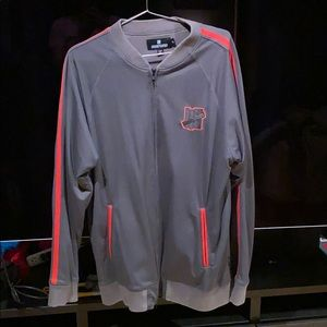 Undefeated Grey and Infra-red Track Jacket